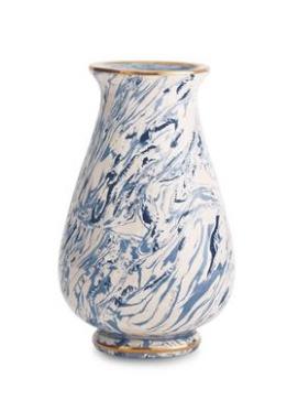 Aerin AERIN - Marbleized Clay Tapering Vase