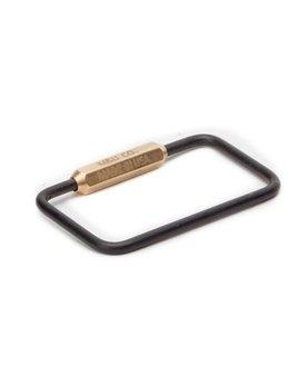 Maxx&Unicorn Maxx & Unicorn Co - Rectangle  Keyring - Matte Black Oxide Brass