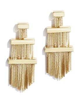 Sarah Magid Sarah Magid - Electric Fringe Tassel Earrings - Brass Gold Plated