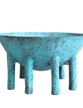 Kelly Wearstler Kelly Wearstler - Heath Bowl - Natural Solid Bronze Verdi Gris Patina