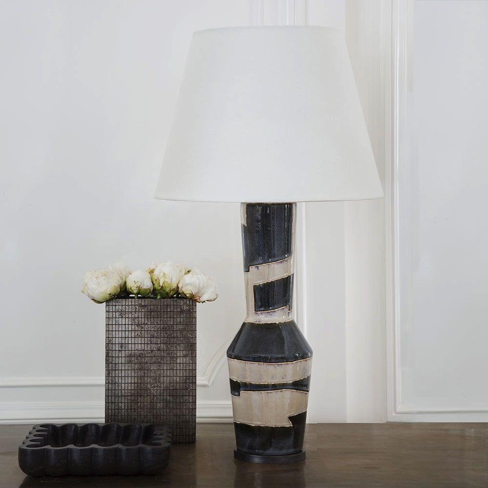 Kelly Wearstler Kelly Wearstler - Alta Table Lamp - Sand Black Stripe