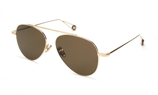 TSG Distribution Ahlem Eyewear - Republique - Champagne - Palladium Frames Dipped in 3 Microns of Gold