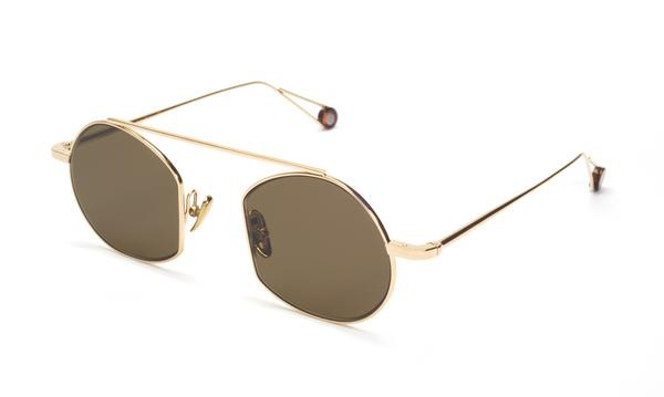 TSG Distribution Ahlem Eyewear - Victoire - Champagne - Palladium frames dipped in 3 microns of gold - Handmade in France