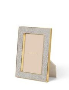 Aerin AERIN - Classic Embossed Shagreen Frame -  Dove Grey 4x6""