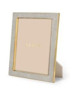Aerin AERIN - Classic Embossed Shagreen Frame - Dove Grey - 8x10'