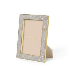 """Aerin AERIN - Classic Embossed Shagreen Frame - Dove Grey 5x7' - Dims 8.5""""x6.5""""x1.3"""""""