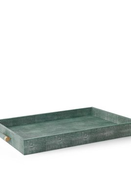 Aerin AERIN - Emerald Embossed Shagreen Butler Tray - 71x45.5x7.5cm