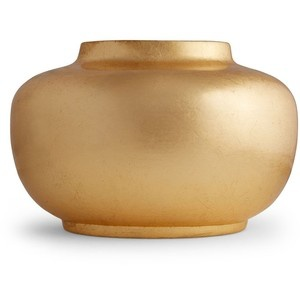 Aerin AERIN - Smooth Oval Gold Vase
