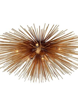 "Kelly Wearstler Kelly Wearstler - Strada Medium Flush Mount in Gild - Height: 11"" Width: 28"""