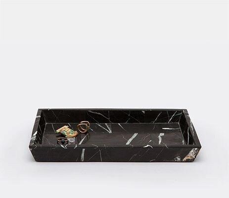 RHODES - Medium Tray - Nero Marble