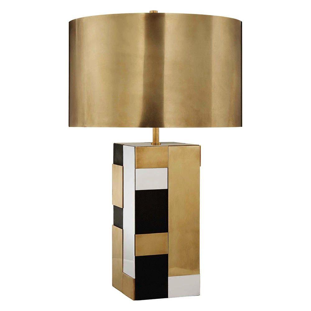 Kelly wearstler bloque table lamp brass bronze and polished kelly wearstler kelly wearstler bloque table lamp brass bronze and polished nickel aloadofball Choice Image