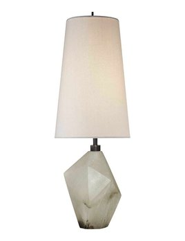 Kelly Wearstler Kelly Wearstler - Halcyon Accent Lamp - Alabaster and Linen