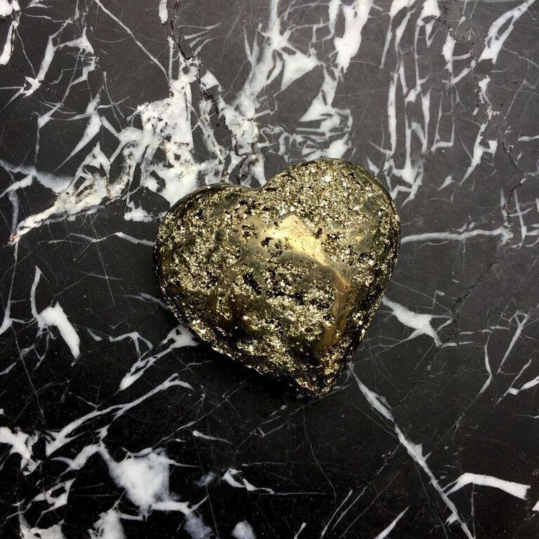 Assorted Pyrite Heart - small - 5-8cm