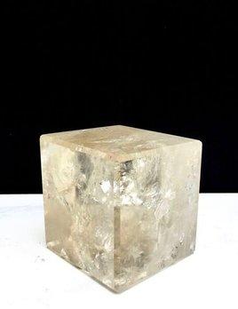 X Large Clear Quartz Cube - 9cm