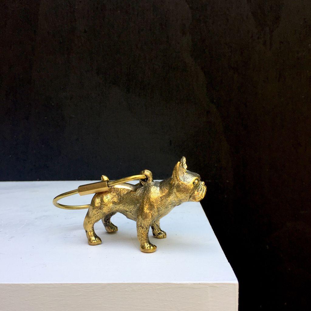 Mr Pinchy Mr Pinchy & Co - Bruno The French Bulldog Keyring - Brass - 9cm