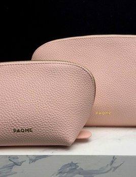 PAQME PAQME Travel Case Set - Leather - Blush -  Lg 29x17x9cm Sml 22x13x9cm