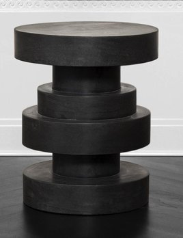 Kelly Wearstler Kelly Wearstler - Apollo Stool - Absolute Black marble <br />