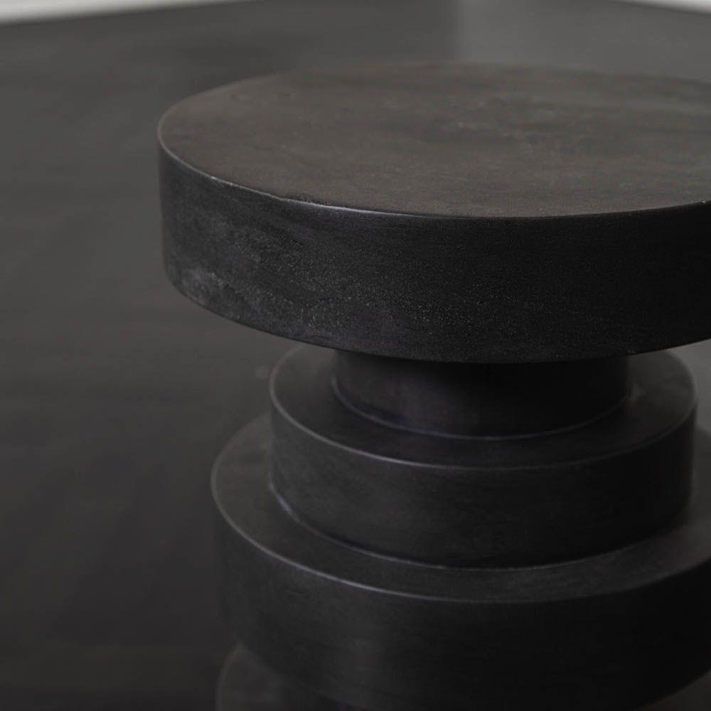 Kelly Wearstler Kelly Wearstler - Apollo Stool - Absolute Black marble <br />38x45cm