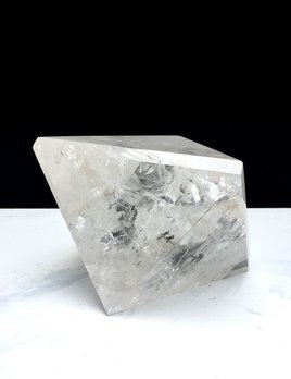 X Large Clear Quartz Octohedron - 8 sided 10cm