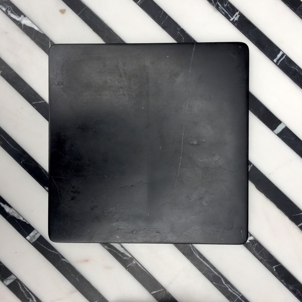 BECKER MINTY BECKER MINTY - DIETER Square Concave Catch-all - Large - Black Marble - W20xH2cm