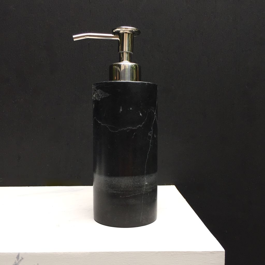 BECKER MINTY BECKER MINTY - DIETER Soap Dispenser/Pump - Black Marble H19xD6cm