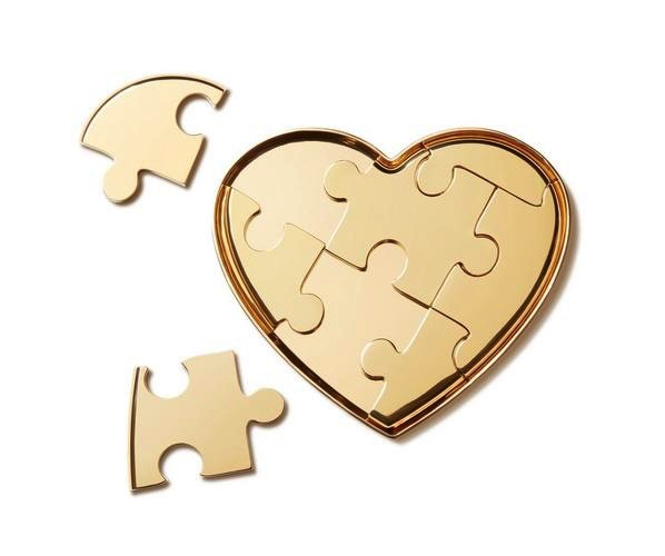 Aerin AERIN - Heart Puzzle Objet