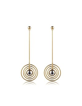 Sarina Suriano Sarina Suriano - Splendidus Saturn Earrings - Brass with 18k Gold Ion Plating - Nickle Free