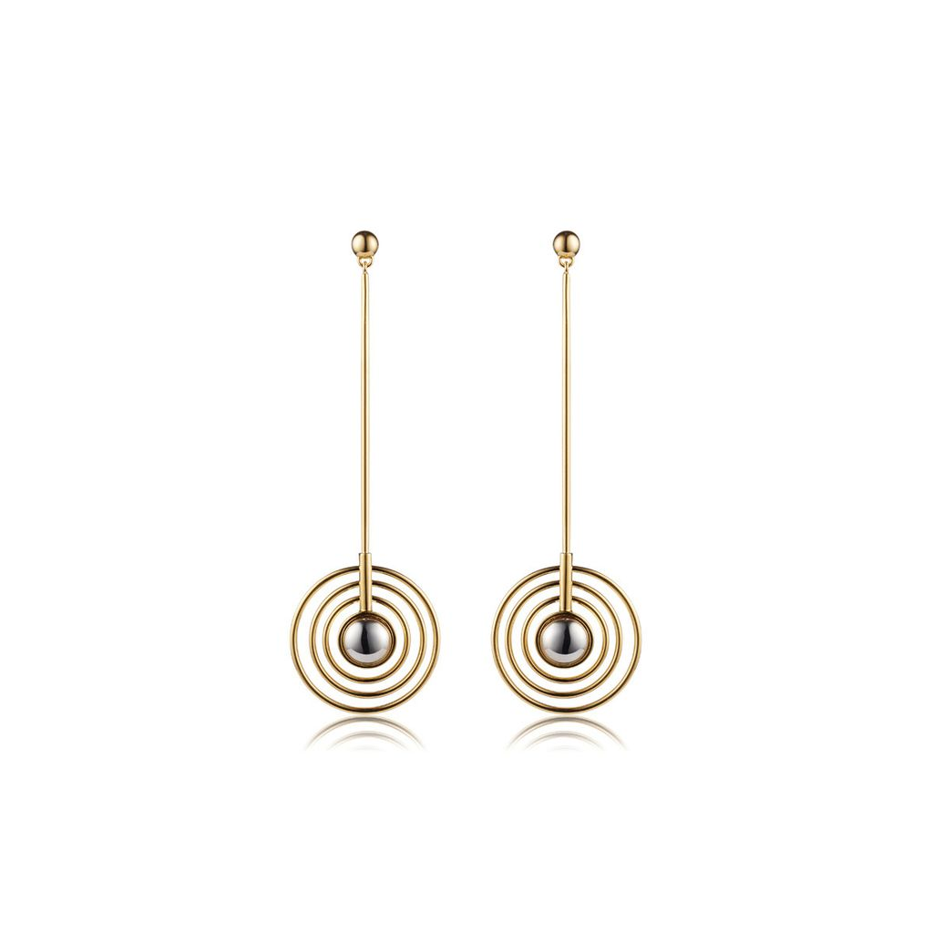 Sarina Suriano Sarina Suriano - Splendidus Saturn Earrings - Brass with 18k Gold Ion Plating - Nickle Free