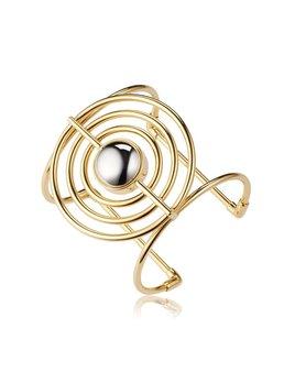 Sarina Suriano Sarina Suriano - Splendidus Saturn Cuff - Brass with 18k Gold & Rhodium Ion Plating  - Nickle Free