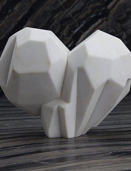 Kelly Wearstler Kelly Wearstler - Large Fractured Heart - White Calacatta Marble - H38xW47cm