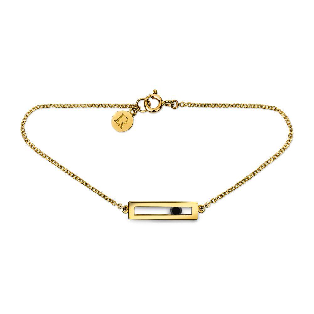 Black Diamond Slide Drop Bracelet by Luke Rose