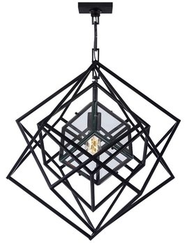 Kelly Wearstler Kelly Wearstler - Cubist Small Chandelier in Aged Iron.