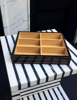 BECKER MINTY - Ebony - Bow Tie and Sunglass Tray (35x30x7cm) - Modular Jewellery and Accessory Tray