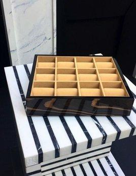 BECKER MINTY - Ebony - 12 Watch Tray (35x30x8cm) - Modular Jewellery and Accessory Tray