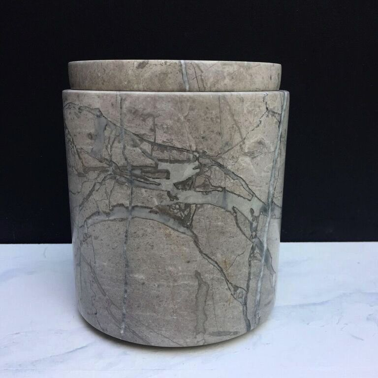 Michael Verheyden Michael Verheyden - CONT L, container with lid in grey marble - Belgium