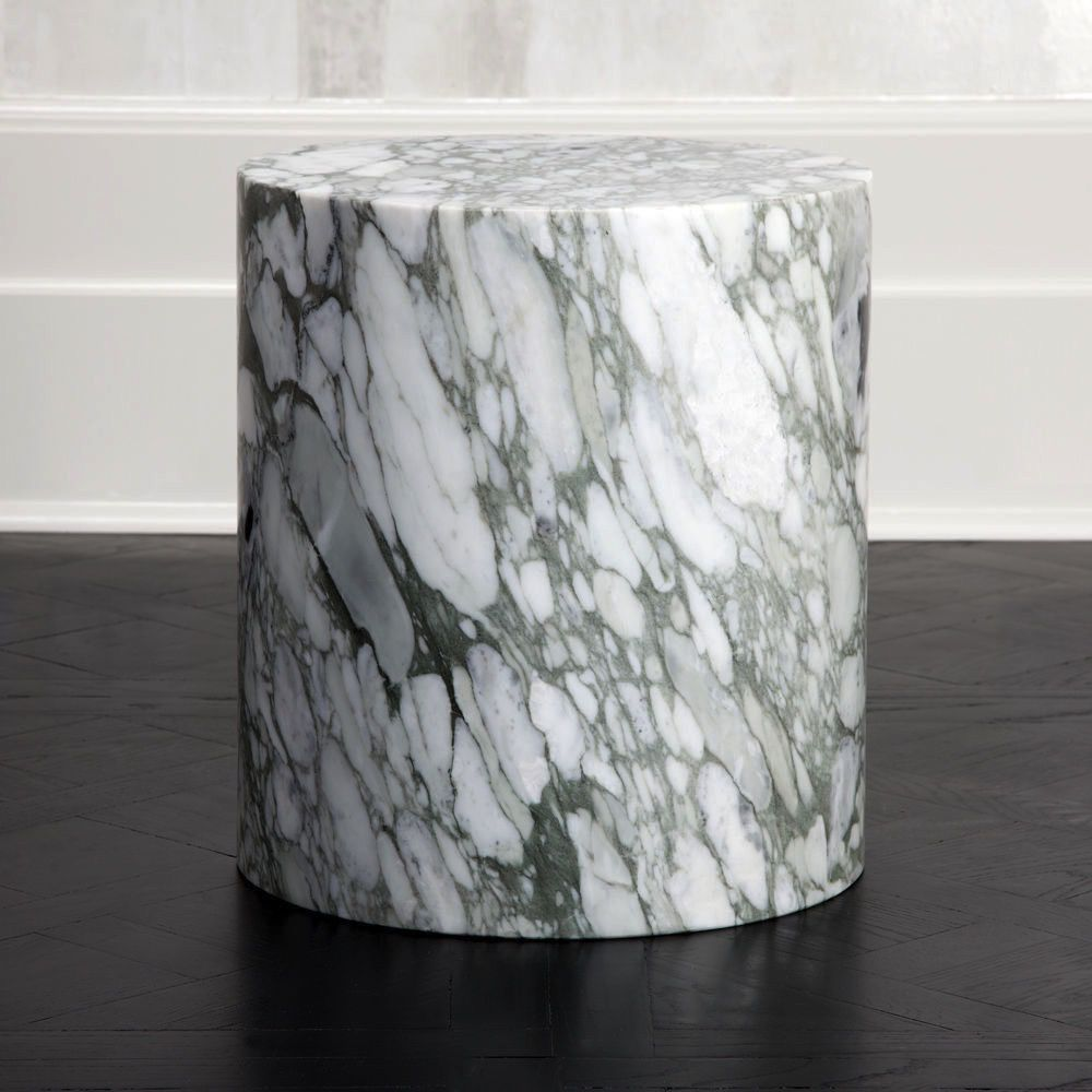 Kelly Wearstler Kelly Wearstler - Monolith Side Table - Big Flower Marble - 40.5x46cm