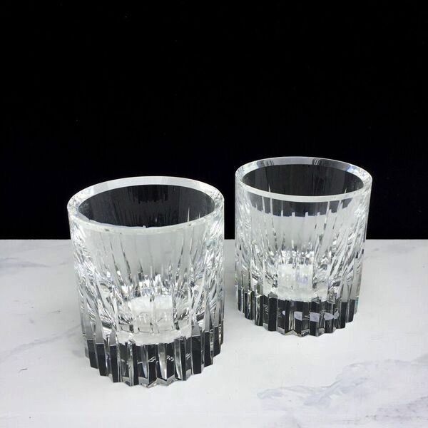 BECKER MINTY BECKER MINTY - Crystal Glass Tumbler - Linear Cut with Bevelled Lip - Clear