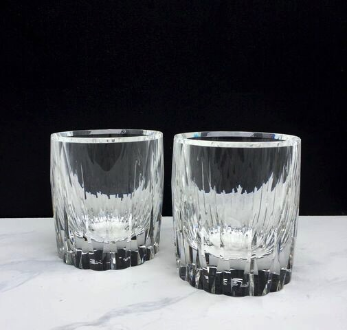 BECKER MINTY BECKER MINTY - Crystal Glass Diamond Cut Tumbler with linear design - Clear