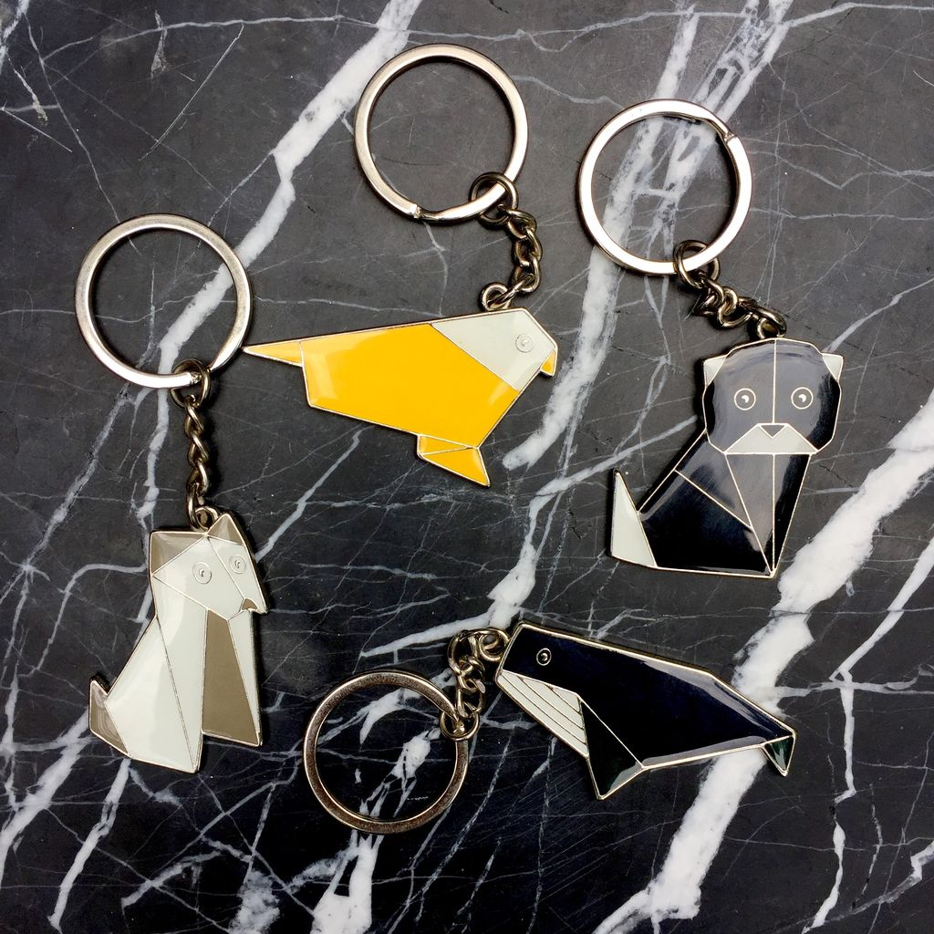 BECKER MINTY BECKER MINTY Origami Animal Keyring - Whale