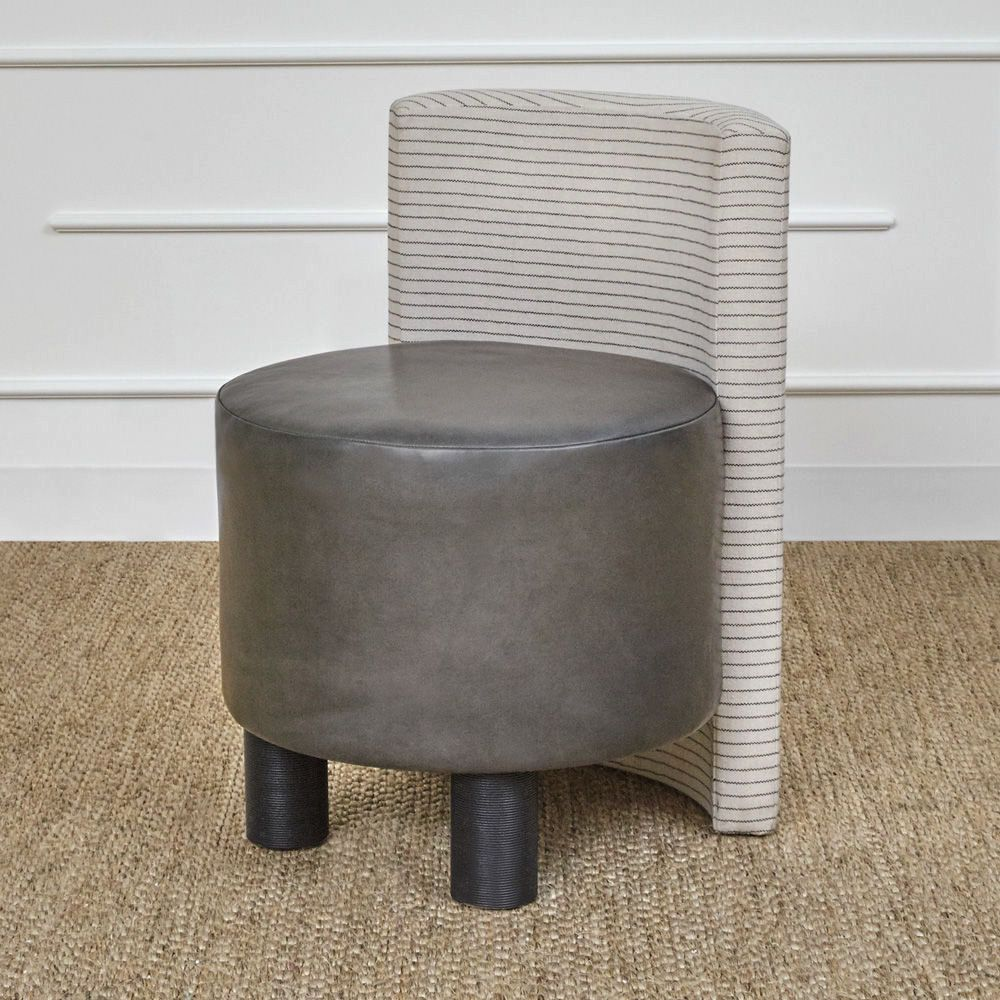 Kelly Wearstler Kelly Wearstler - Willoughby Stool - Brighten Linen
