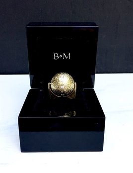B.M.V.A. Vintage 18ct Yellow Gold and Diamond Spinning Sphere Ring - c1970