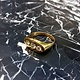 B.M.V.A. Vintage 14ct Yellow Gold and three Diamond Dress Ring - Flat top Gypsy Setting - Diamonds c1880, Setting c1960
