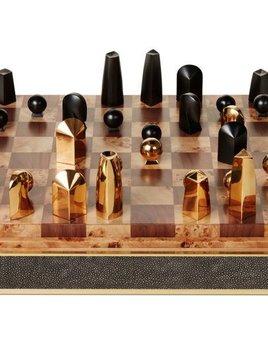 Aerin AERIN - Chocolate Embossed Chess Set