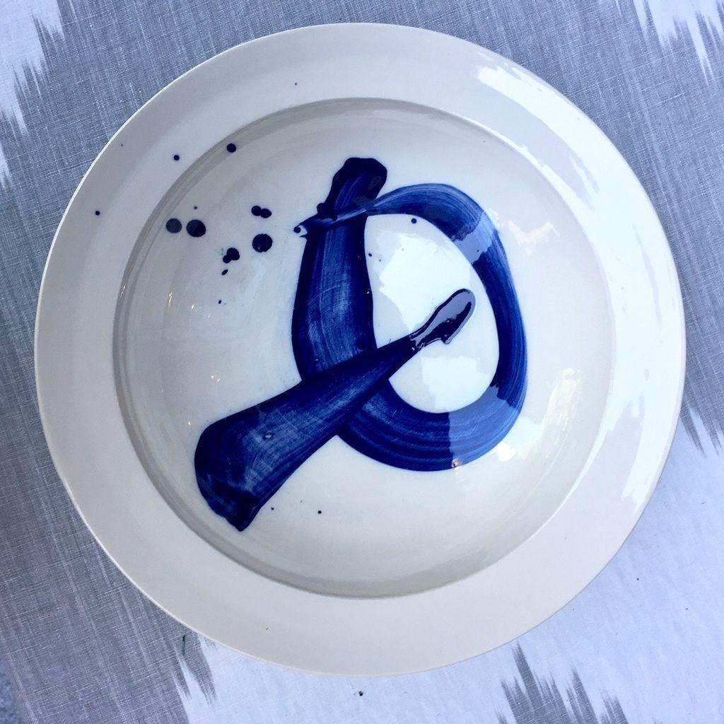 Peter Dwyer Ceramics - Low Bowl - Blue