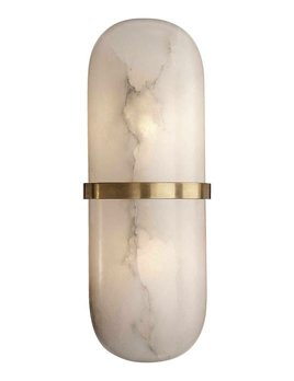 Kelly Wearstler Kelly Wearstler - Melange Pill Form Sconce - Antique Brass with Alabaster
