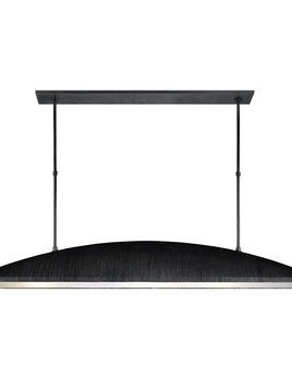 """Kelly Wearstler Kelly Wearstler - Utopia Large Linear Pendant in Aged Iron with Frosted Acrylic - Height: 31.5"""""""