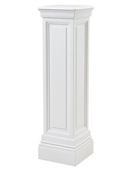 eichholtz overseas decoration b.v. Tall Plinth - Column - Waxed White - H120x33x33cm
