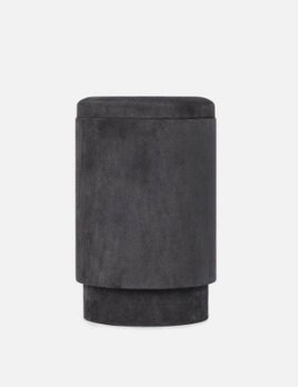 Michael Verheyden Michael Verheyden - TABOU, pouf with storage covered with grey suede - Belgium