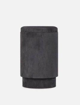 Michael Verheyden Michael Verheyden - TABOU, pouf with storage covered with grey suede - Belgium