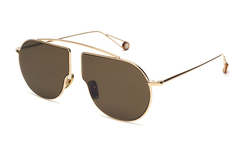 TSG Distribution Ahlem Eyewear - Place du Pont Neuf  - Champagne - Palladium frames dipped in 3 microns of gold - Handmade in France